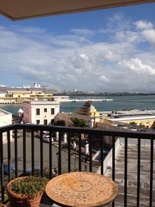 View of San Juan Harbor from Balcony.