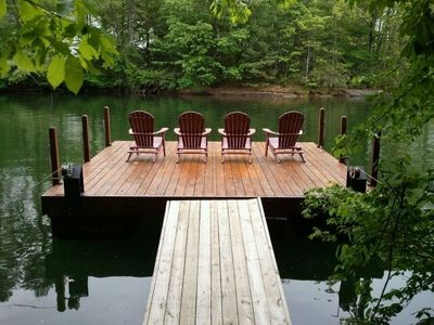 New chairs added to relax on the dock.
