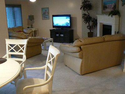 Plenty of comfortable seating in living area