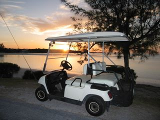Rent the optional golf cart for shopping, dining, and exploring Spanish Wells. - Spanish Wells villa vacation rental photo