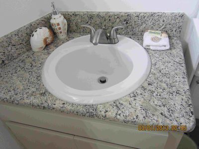 Master Bath - new granite countertop