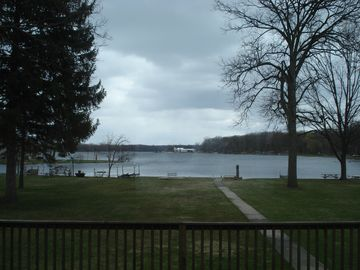 Beautiful spring view of Strawberry Lake from the deck!