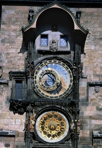 The Astronomical clock at the Old Town square