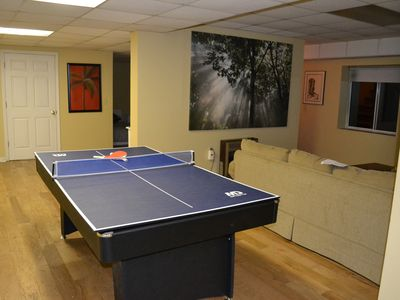 And voila...it is now a ping pong table!
