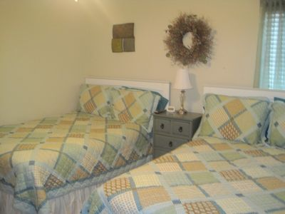 Two double beds in bedroom #2