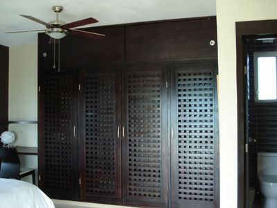Master bedroom custom made closet