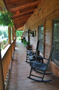 The Front Porch is a Great Place to Relax and Watch the Deer.