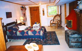 Harpers Ferry cabin photo - basement apartment with private entry; electric fireplace