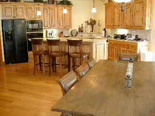 Deer Valley townhome photo - Gourmet Kitchen w/ Dining Room Table Seats 8, Plus Seating at Breakfast Bar