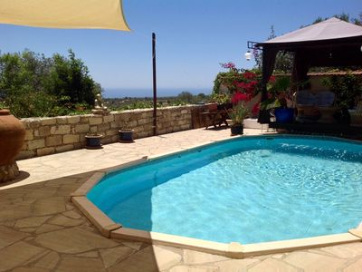 Cool Apartment with Pool, Gardens, Patio Terrace and Fantastic Sea Views