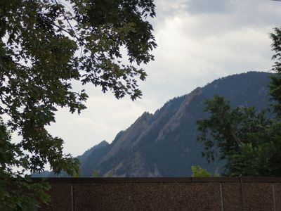 views of Flatirons and Boulder mountains