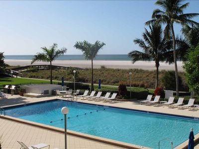 Amazing View from Our Very Large Balcony overlooking pool, beach and gulf.