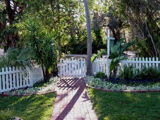 Gulfport cottage photo - Beautifully landscaped brick pathways