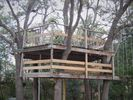 Kids can enjoy our treehouse and swings.
