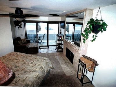MASTER BEDROOM AND VIEW TO BEACH