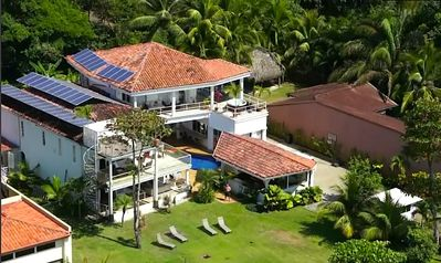 Jaco estate rental - Aerial shot of Casa Blanca Beach front Estate