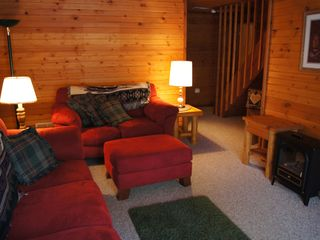 Wisconsin Dells cabin photo - lower level sitting area