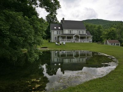 View from Front Lawn and Upper Pond
