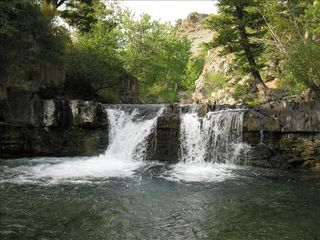 Big Timber cabin photo - Amazing waterfall on property. Relaxation pure! Access with ATV or SUV or hiking