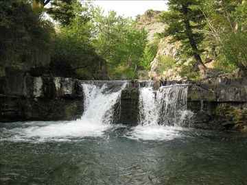 Amazing waterfall on property. Relaxation pure! Access with ATV or SUV or hiking