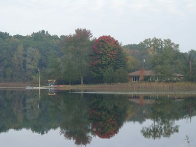 From across the lake you can see how peaceful and secluded you will be.