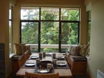 Guest House dining area shwoing large piture window