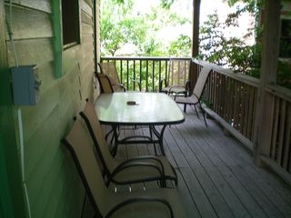 Galveston cottage photo - Back Deck -- Very comfy in the afternoon