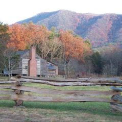 Pigeon Forge cabin photo - Another shot of John Olivers Cabin at Cades Cove in the Great Smokey Mountains.