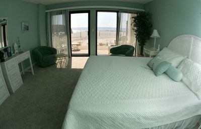 Enjoy the ocean views from your master bedroom