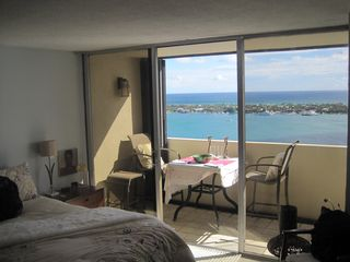 West Palm Beach condo photo - View from Master bedroom of balcony and Palm Beach