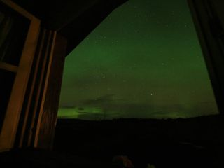 South Iceland cabin photo - The Northern Lights out of the master bedroom!
