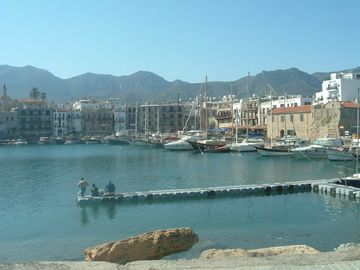 Fishing in Kyrenia harbour