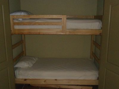 Bunk Beds located just off Dining room.