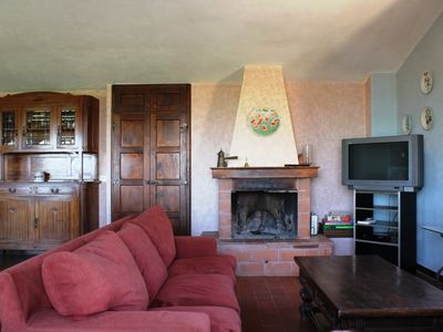Castelnuovo Berardenga chateau / country house rental - Mansarda Living room