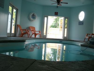 Rehoboth Beach house rental - Indoor Swimming Pool is heated in fall and Spring. Closed in Winter.