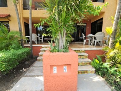Isla Mujeres condo rental - Patio of condos 5 and 6