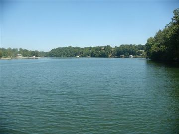 View of Lake Hickory in front of condo property looking east