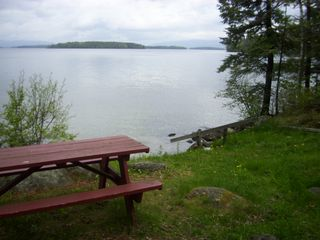 Right of way swimming area and picnic table - Gilford cottage vacation rental photo