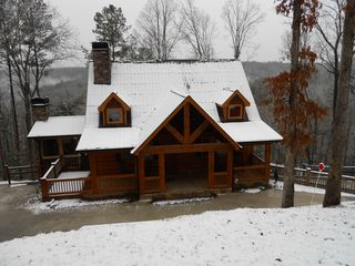 Ellijay cabin photo - WOW!! That is Beautiful. Snowy and Cold day by the fire.