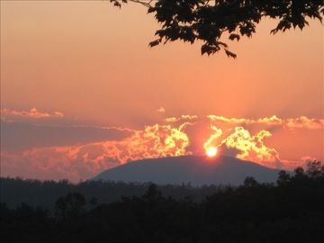 Brevard cabin rental - Beautiful Sunset from the deck