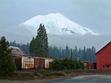 McCloud house rental - View of Mt. Shasta from McCloud