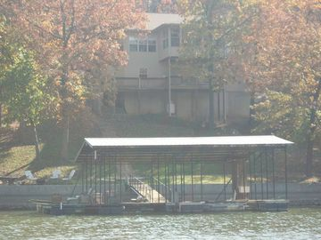 2 Well Dock w/Lifts, PWC Lift and View fromLake