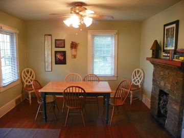 Nice dining area just right for the perfect dinner or family game time.