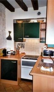 The kitchen has old charm and all modern appliances