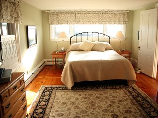 Camden house photo - Master bedroom suite, facing harbor.