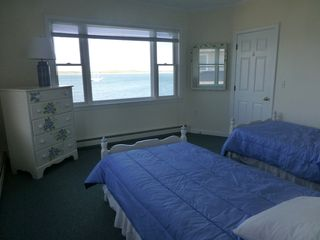Monument Beach house photo - Hydrangea twin bedrooms - two twins and a view.