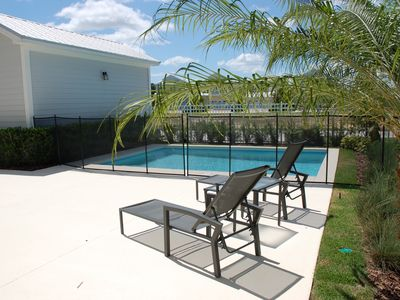 NEW! Private pool with optional heat | Child Safety Fence | Huge Patio