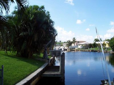 beautiful canal with dock for your boat