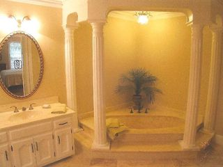 Stone Mountain house photo - Huge master bath with tub and shower.