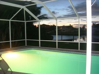 Sarasota house photo - Pool at night